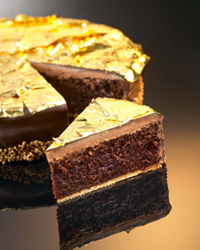 Decorating A Cake With Gold Leaf : GoldGourmet Edible Gold and Silver, SeppLeaf Products